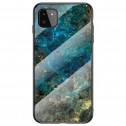 """Marble"" cieta silikona (TPU) apvalks - zils (Galaxy A22 5G)"