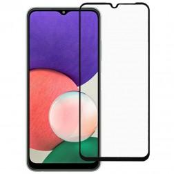 """""""Rurihai"""" Tempered Glass pilnīgi aizsedzams ekrāna aizsargstikls 2.5D - melns (Galaxy A22 5G)"""