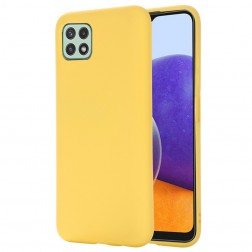 """Shell"" cieta silikona (TPU) apvalks - dzeltens (Galaxy A22 5G)"