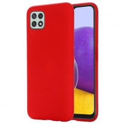 """Shell"" cieta silikona (TPU) apvalks - sarkans (Galaxy A22 5G)"