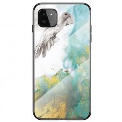 """Marble"" cieta silikona (TPU) apvalks - zaļš (Galaxy A22 5G)"