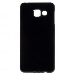 Cieta silikona (TPU) apvalks - melns (Galaxy A3 2016)