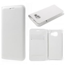 """""""Smart Wallet"""" atvēramais ādas maciņš - balts (Galaxy A3 2016)"""