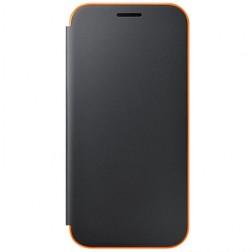 """""""Samsung"""" Neon Flip Cover atvērams maciņš - melns (Galaxy A3 2017)"""