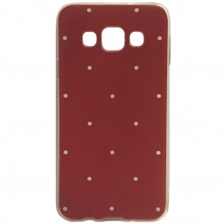 """""""Dots"""" cieta silikona (TPU) apvalks - sarkans (Galaxy A3 2015)"""