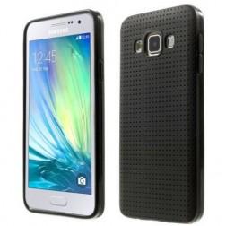 """""""Dots"""" cieta silikona (TPU) apvalks - melns (Galaxy A3 2015)"""
