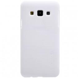 """Nillkin"" Frosted Shield apvalks - balts + ekrāna aizsargplēve (Galaxy A3 2015)"