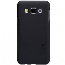 """Nillkin"" Frosted Shield apvalks - melns + ekrāna aizsargplēve (Galaxy A3 2015)"