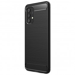 """Carbon"" cieta silikona (TPU) apvalks - melns (Galaxy A32 4G)"