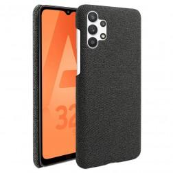 """Bi-Color"" Splicing ādas apvalks - melns (Galaxy A32 5G)"
