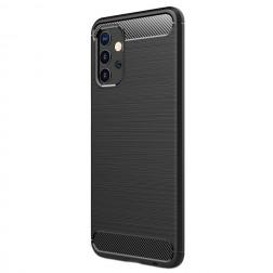 """Carbon"" cieta silikona (TPU) apvalks - melns (Galaxy A32 5G)"