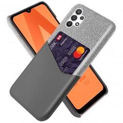 """KSQ"" Shell ādas apvalks - pelēks (Galaxy A32 5G)"