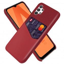 """""""KSQ"""" Shell ādas apvalks - sarkans (Galaxy A32 5G)"""