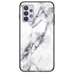 """Marble"" cieta silikona (TPU) apvalks - balts (Galaxy A32 5G)"