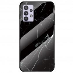 """Marble"" cieta silikona (TPU) apvalks - melns (Galaxy A32 5G)"