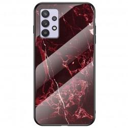 """Marble"" cieta silikona (TPU) apvalks - sarkans (Galaxy A32 5G)"