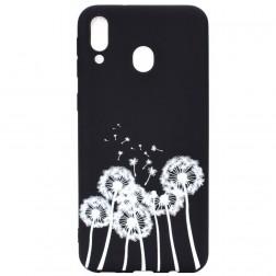 """Dandelion"" cieta silikona (TPU) apvalks - melns (Galaxy A40)"