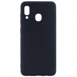 Cieta silikona (TPU) vāciņš - melns (Galaxy A40)
