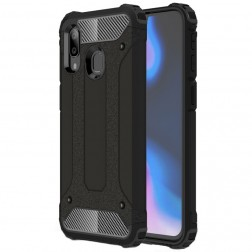 Pastiprinātas aizsardzības apvalks - melns (Galaxy A40)
