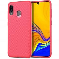 """""""Lenuo"""" cieta silikona (TPU) apvalks - sarkans (Galaxy A40)"""