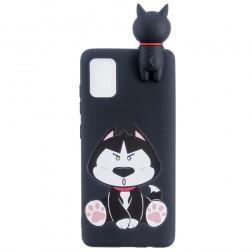 """Black Dog"" cieta silikona (TPU) apvalks - melns (Galaxy A41)"