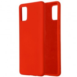 """Shell"" cieta silikona (TPU) apvalks - sarkans (Galaxy A41)"