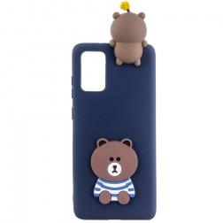 """Squezy"" Bear cieta silikona (TPU) apvalks - zils (Galaxy A41)"