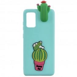 """Squezy"" Cactus cieta silikona (TPU) apvalks - piparmētru (Galaxy A41)"