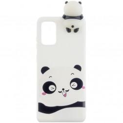 """Squezy"" Panda cieta silikona (TPU) apvalks - balts (Galaxy A41)"