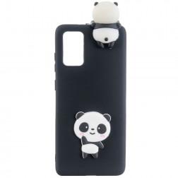 """Squezy"" Panda cieta silikona (TPU) apvalks - melns (Galaxy A41)"