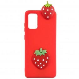 """Squezy"" Strawberry cieta silikona (TPU) apvalks - sarkans (Galaxy A41)"