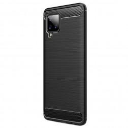 """Carbon"" cieta silikona (TPU) apvalks - melns (Galaxy A42 5G)"