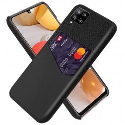 """""""KSQ"""" Shell ādas apvalks - melns (Galaxy A42 5G)"""