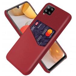 """""""KSQ"""" Shell ādas apvalks - sarkans (Galaxy A42 5G)"""
