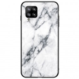 """Marble"" cieta silikona (TPU) apvalks - balts (Galaxy A42 5G)"