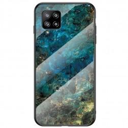 """Marble"" cieta silikona (TPU) apvalks - zils (Galaxy A42 5G)"