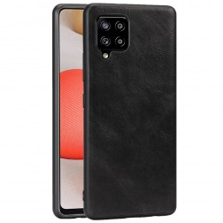 Soft Slim ādas apvalks - melns (Galaxy A42 5G)