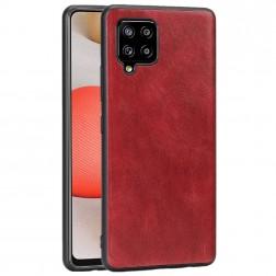 Soft Slim ādas apvalks - sarkans (Galaxy A42 5G)