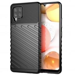 """Twill"" cieta silikona (TPU) apvalks - melns (Galaxy A42 5G)"