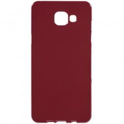 Cieta silikona (TPU) apvalks - sarkans (Galaxy A5 2016)