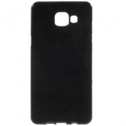 Cieta silikona (TPU) apvalks - melns (Galaxy A5 2016)