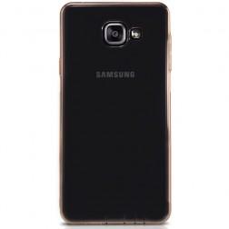 Pilnīgi aizsedzams TPU dzidrs apvalks - gaiši brūns (Galaxy A5 2016)