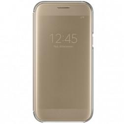 """Samsung"" Clear View Cover atvērams maciņš - zelta (Galaxy A5 2017)"