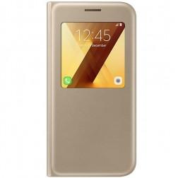 """""""Samsung"""" S View Cover atvērams maciņš - zelta (Galaxy A5 2017)"""