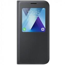 """""""Samsung"""" S View Cover atvērams maciņš - melns (Galaxy A5 2017)"""