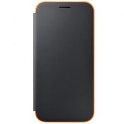 """""""Samsung"""" Neon Flip Cover atvērams maciņš - melns (Galaxy A5 2017)"""