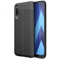 """FOCUS"" cieta silikona (TPU) apvalks - melns (Galaxy A50)"