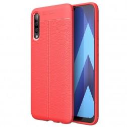 """FOCUS"" cieta silikona (TPU) apvalks - sarkans (Galaxy A50)"
