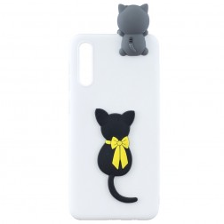 """Squezy"" Cat cieta silikona (TPU) apvalks - balts (Galaxy A50 / A50s / A30s)"