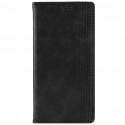 """""""Vintage"""" atvēramais maciņš - melns (Galaxy A50)"""